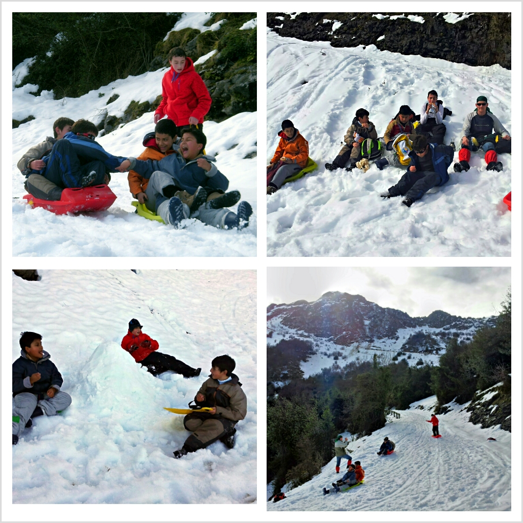 excursion a la nieve con trineos