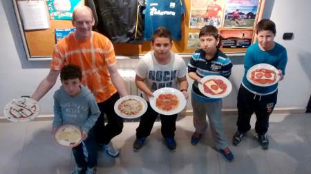 actividad de cocina: pizzas